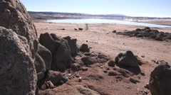Folsom Lake , no drought relief Stock Footage