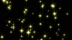 Golden stars background loop Stock Footage