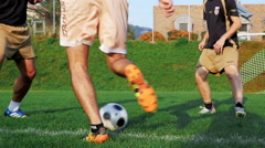 Football player - action shot Stock Footage