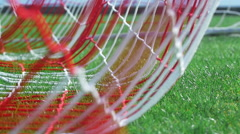 Football goal - ball in the net Stock Footage