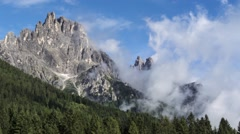 Clouds over the mountains, Dolomites Stock Footage