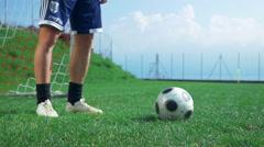 Football player walking Stock Footage