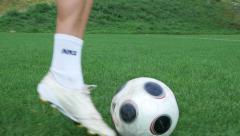 Football player running Stock Footage