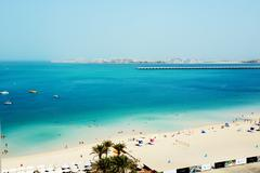 Dubai, uae - september 11: the tourists enjoying their vacation at luxury hot Stock Photos