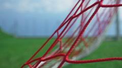 Goal ! Football game - soccer player scoring Stock Footage