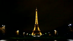 Eiffel tower, Light Performance Show, paris, france. Stock Footage