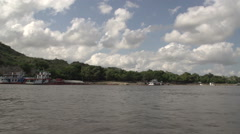 Boating on the Aye Yarwaddy river Stock Footage