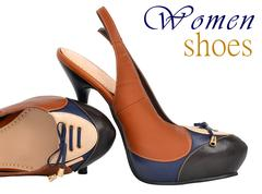stylish woman shoes - stock illustration