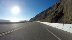 Pacific Coast Highway Malibu - stock footage
