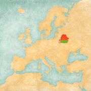 Map of europe - belarus (vintage series) Stock Illustration