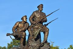 Monument to the heroes of the first world war. kaliningrad, russia Stock Photos