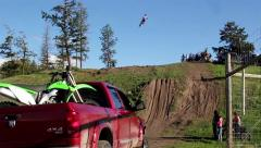 FMX long jump, 2 scenes. Stock Footage