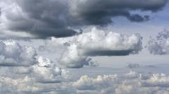 Rain clouds in summer sky Stock Photos