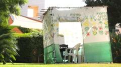 Sukkah, Jewish ritual Stock Footage