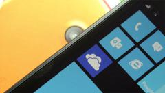 Microsoft Windows Phone panning over Stock Footage