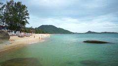 lamai beach, overcast weather - stock footage