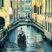 Pictorial venetian canal Stock Photos