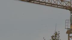 Construction crane 4K + HD _turning _1 Stock Footage