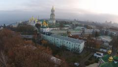 Aerial view of Kiev-Pechersk Lavra Stock Footage