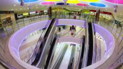 Escalators - Shopping Mall Timelapse (4K) Stock Footage