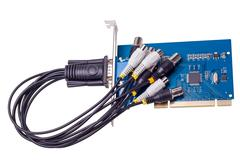 Electronic collection - computer video capture card Stock Photos