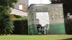 Sukkah, Jewish ritual - stock footage