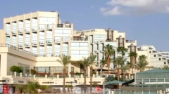 Magic palace hotel and marina. Eilat. Israel Stock Footage