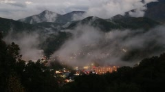 Mountain Gatlinburg Dusk Fog - stock footage