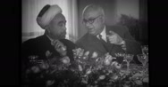 King Abdullah I bin al-Hussein talking with Mehmet Recep Peker Stock Footage