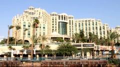 Hotel Hilton. Eilat. Israel Stock Footage