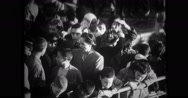 View of people at port Stock Footage