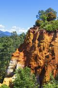 Stock Photo of red cliffs in roussillon