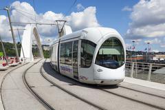 Stock Photo of tramway on a bridge