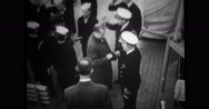 Military officers greeting government officer Stock Footage