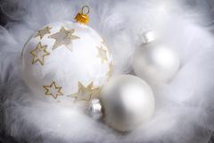 Dreamy christmas arrangement Stock Photos