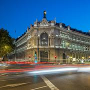 famous gran via street in madrid - stock photo