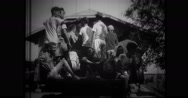 Filipino civilians being evacuated by truck Stock Footage