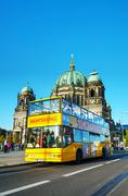 Touristic bus at berliner dom in berlin Stock Photos