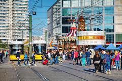 alexanderplatz square in berlin, germany - stock photo