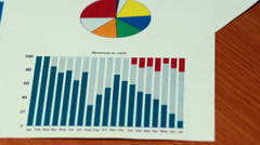 Business Charts Revenue Cost Income Graph - stock footage