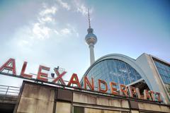 Alexanderplatz subway station in berlin Stock Photos