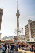Alexanderplatz square in berlin, germany Stock Photos