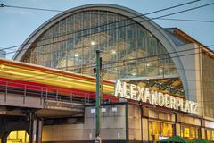 alexanderplatz subway station in berlin - stock photo