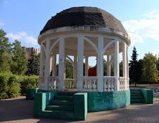 Rotunda in a park - stock photo