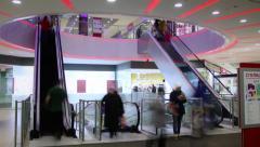 Escalators - Shopping Mall Timelapse (4K) Stock Footage