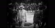 President Coolidge visiting Citizen's Military Training Camp Stock Footage