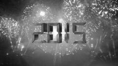 Colorless countdown to happy new year 2015 Stock Footage