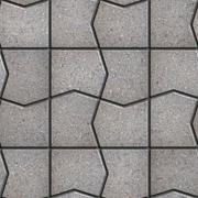 Gray Pavement  Slabs in the Polygonal Shape. - stock illustration