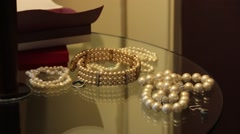 Pearl Necklace Jewelry Stock Footage