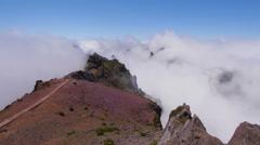 Timelapse on Pico do Areeiro, Madeira, Portugal Stock Footage